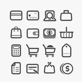 Different shopping icons Royalty Free Stock Photo