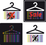 Different shopping stickers Stock Image