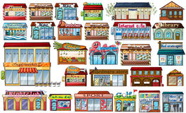 Different shops and buildings Stock Photography