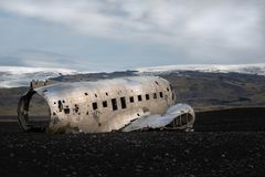A different shot of the DC-30 Wreckage royalty free stock image