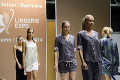 Different the show.  Lingrie Expo. Moscow. Many womens Sexy Desire Royalty Free Stock Photo