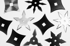 Different shurikens Stock Image