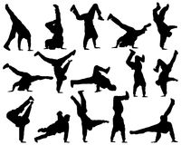 Different silhouette dance Royalty Free Stock Images
