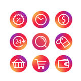 Different simple web pictograms collection Royalty Free Stock Photos