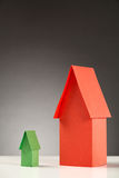 Different Size Paper Houses Stock Photography