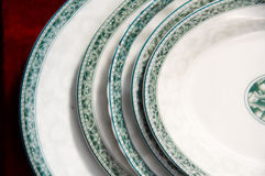 Different size plates on sale Royalty Free Stock Photo