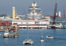 Nassau City Port Ships Royalty Free Stock Images