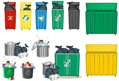 Different size of trashcan Stock Photography
