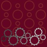 Different Sizes of Color Cog Wheel Gear Engaging, Interlocking, Tesselating. Creative Background Idea for Industrial and. Colorful Cog Wheel Gear Engaging royalty free illustration