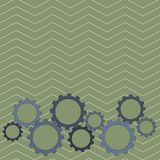 Different Sizes of Color Cog Wheel Gear Engaging, Interlocking, Tesselating. Creative Background Idea for Industrial and. Colorful Cog Wheel Gear Engaging vector illustration
