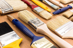 Different sizes of paintbrushes Stock Photography