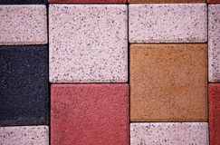 Different sizes of pavement tiles Stock Photo