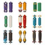 Different Skateboards Set Stock Images