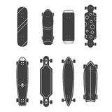 Different Skateboards Set Royalty Free Stock Photo