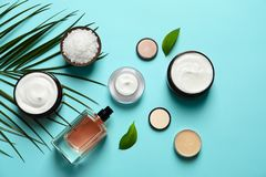 Different skin care cosmetic products Stock Image