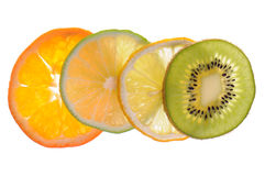 Different sliced fruit Stock Photo