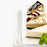 Different slices of cheesecake Royalty Free Stock Photo