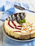 Different slices of cheesecake Stock Photos