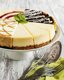 Different slices of cheesecake Royalty Free Stock Images