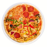 Different slices of pizza Royalty Free Stock Images