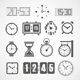 Different slyles of clock Royalty Free Stock Image