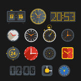 Different slyles of clock collection. Different slyles of clock vector collection Stock Photos