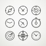 Different slyles of speedometers Royalty Free Stock Images