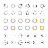 Different slyles of web loaders vector collection Royalty Free Stock Photo