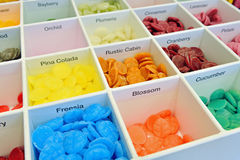 Smelling wax in box Royalty Free Stock Photos