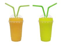 Different smoothie with fruits Stock Image