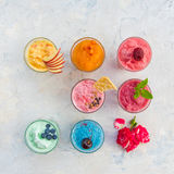Different smoothie set Stock Image
