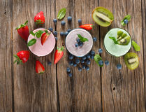 Different  smoothies, view from above Stock Photography
