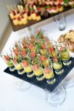 Different snack and canape on a table Stock Photography
