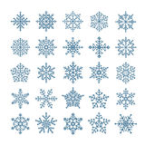 Different snowflake elements set Stock Photo