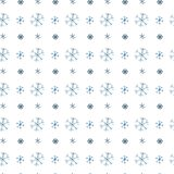 Large and small blue snowflakes, stock illustration