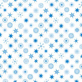 Different Snowflakes At Seamless Pattern Stock Images