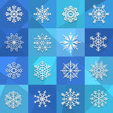 Different snowflakes set Royalty Free Stock Photography