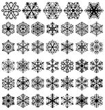 Different Snowflakes Vector Patterns Royalty Free Stock Images