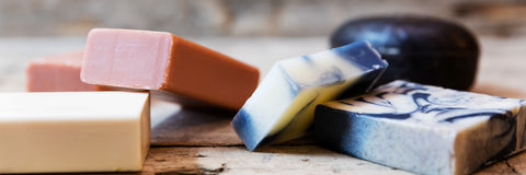 Different soaps Stock Photo