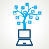 Different social and technology icon Stock Image