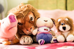 Different soft toys for children Royalty Free Stock Image