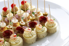 Different sort of canape Royalty Free Stock Image