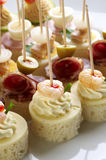 Different sort of canape Royalty Free Stock Photo