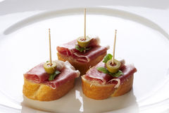 Different sort of canape Royalty Free Stock Photos