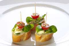 Different sort of canape Stock Images