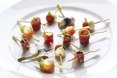 Different sort of canape Stock Photo