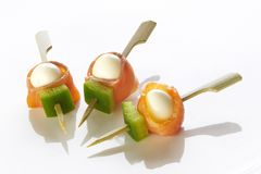 Different sort of canape Royalty Free Stock Images