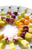 Different sort of fruit canape Royalty Free Stock Photo
