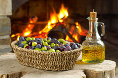 Different sort of olives. 1 Royalty Free Stock Photo