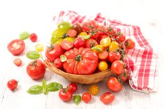 Different sort of tomatoes. Different sort of fresh tomatoes Stock Photos